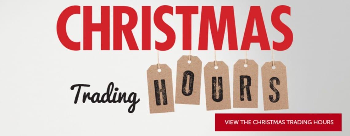 CHRISTMAS TRADING HOURS 2016