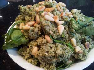 spinach & pinenuts stuffing