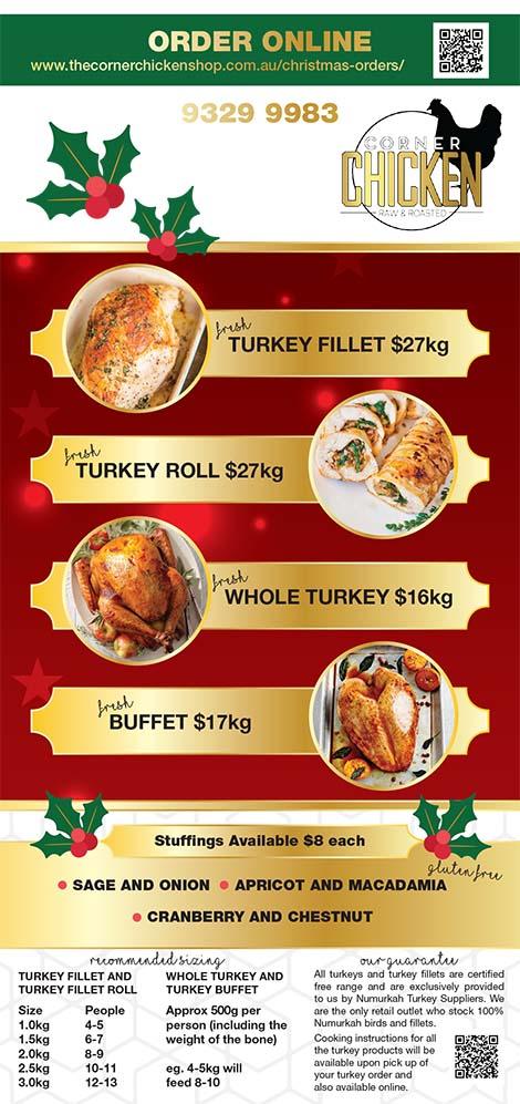 The Corner Chicken Shop Christmas Brochure 1